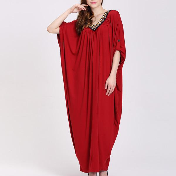 Customized Design Frauen Lange Plus Größe Kleid