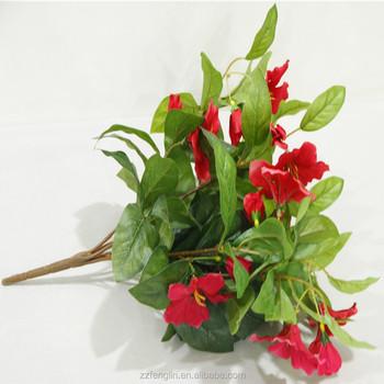 16u0026quot; Tall Silk Flower Christmas Home Decor Artificial Azalea Flower  Bush Silk Flower Arrangement