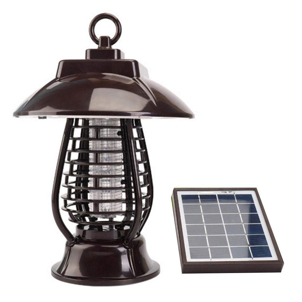 Ireav Outdoor Mosquito Killer - Motion Sensor LED Solar Panel Mosquito Killer Lawn Ground Light No Radiation Outdoor Home Mosquito Trap Pest Lamp