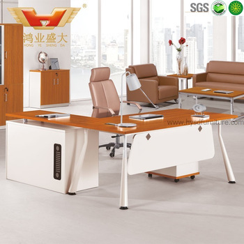 2019 Hot Sale office furniture HY-BY1807 teak wood modern executive desk