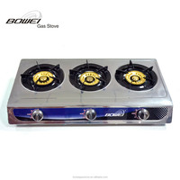 Top quality best selling gas hob protectors 3 burner table gas stove with super blue flame