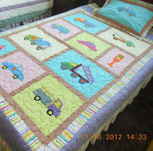 170X220cm Applique Cars Boys Patchwork Quilt XDN023