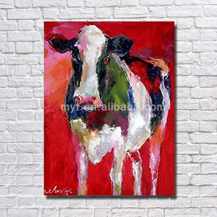 vache peinture l 39 huile canvsa acrylique mur art d cor. Black Bedroom Furniture Sets. Home Design Ideas