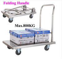 Good Quality High Stainless Steel 201 Polishing 500 KGS Heavy Duty Platform Hand Truck