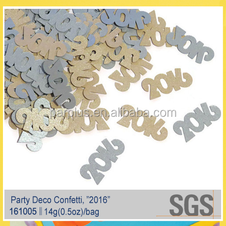 New Years Eve Party Decorations/Wedding/Graduation/Anniversary Laser Cut Glitter 2016 Year Confetti