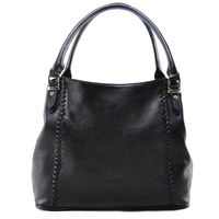 High quality handmade bag Ladies Genuine leather black handbag Tote bag for Formal occasions