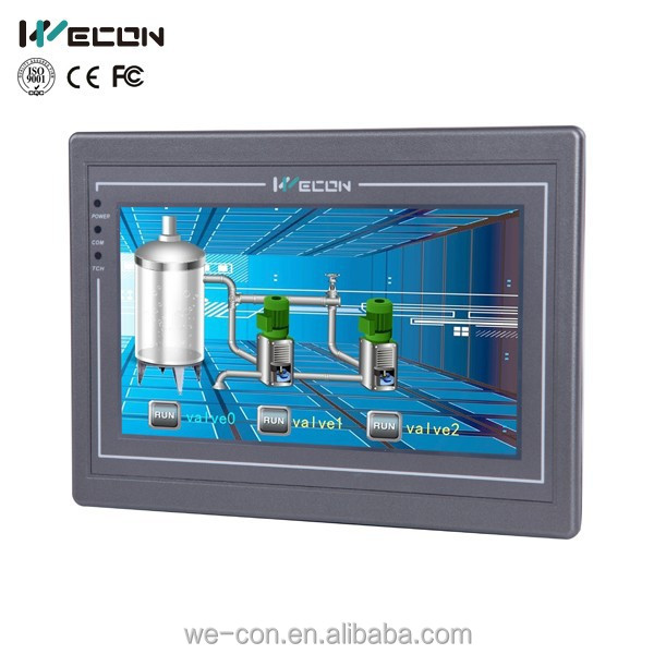Wecon 7 inch human machine interface replacement touch screen panel optional of hmi weintek and support canbus