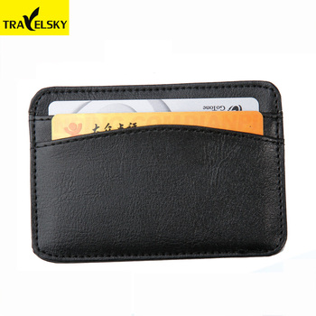 Travelsky Custom pu leather business rfid credit id card holder wallet