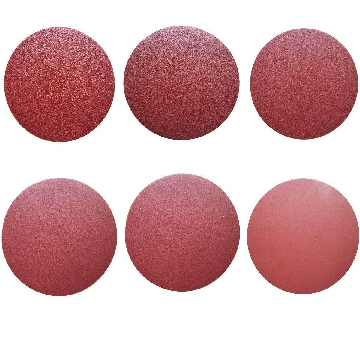 SODIAL 60 PCS 6-Inch NO-Hole Aluminum Oxide Sanding Disc Self Stick(10 Each of 80 100 120 180 240 400)
