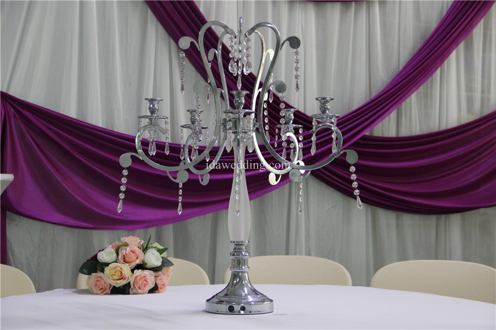 IDA Weeding Decoration Candle Holders Crystal Candlestick (IDACH15)