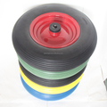 16 Inch PU Foam Wheel Material And PP Plastic/Metal Rim Material Wheels For Barrow