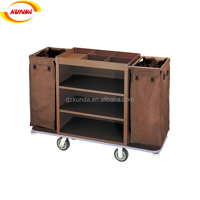 hotel equipment room service trolley hotel housekeeping cart janitorial cleaning trolley C-009
