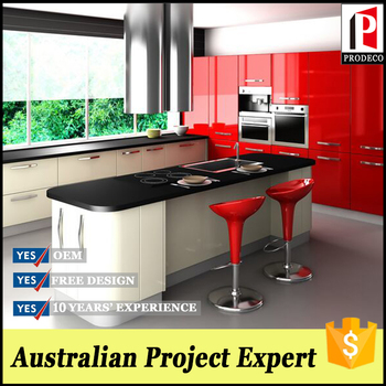 New Model Tempered Glass Red Kitchen Cabinets Door Design Buy New