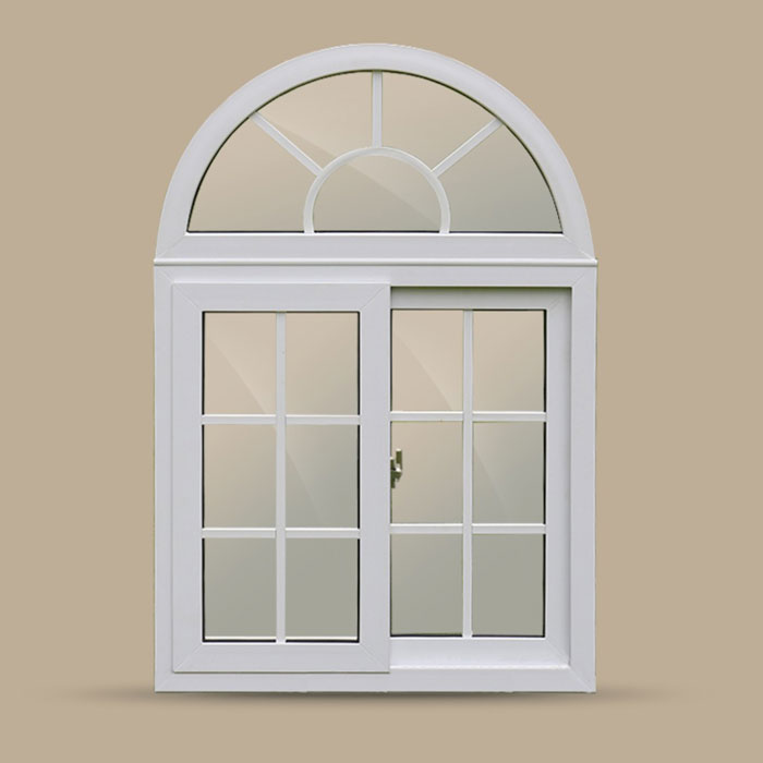 white pvc frame round window