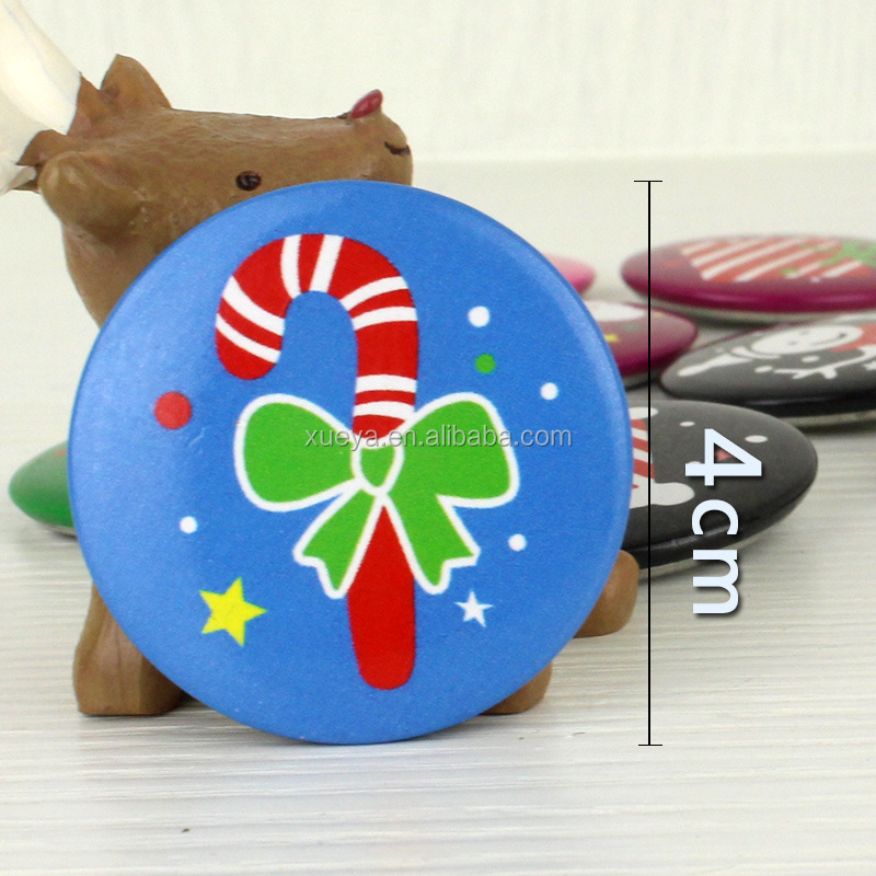 Christmas decoration Christmas metal badge for party