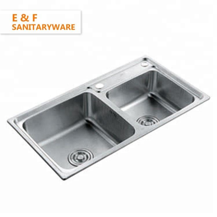 Zimbabwe Under Mount Double Bowl Kitchen Sink Custom Size Deep Drawn  Stainless Steel Kitchen Sink - Buy Custom Size Kitchen Sink,Double Bowl  Kitchen ...