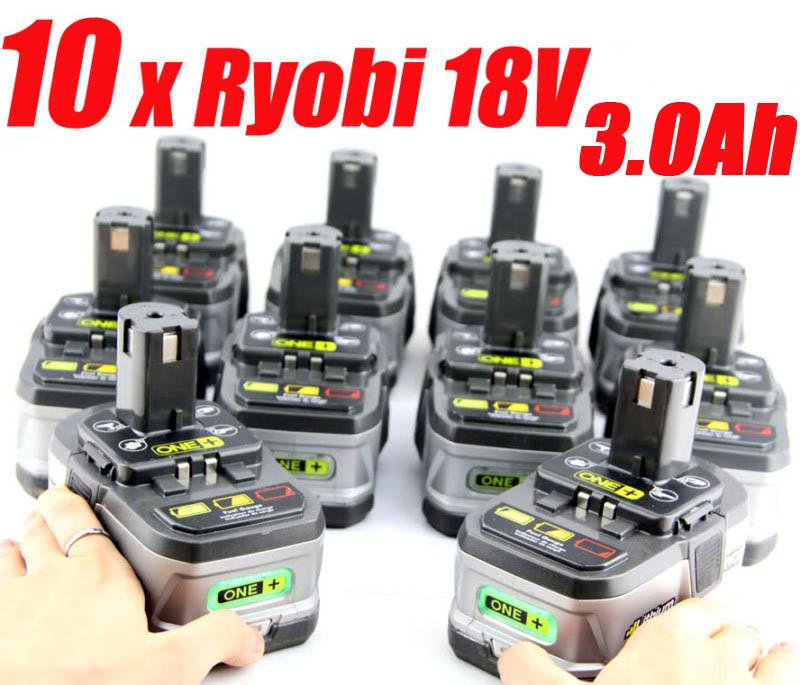 10 packs x 2 4ah ryobi 18v lithium battery one ryobi. Black Bedroom Furniture Sets. Home Design Ideas