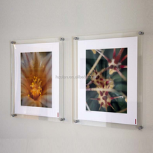 Adjustable Wall-Mounted Clear Acrylic Photo Frame Frameless Picture Frame
