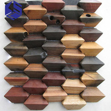 Original ecological decoration materials boat wooden mosaic bar background wall