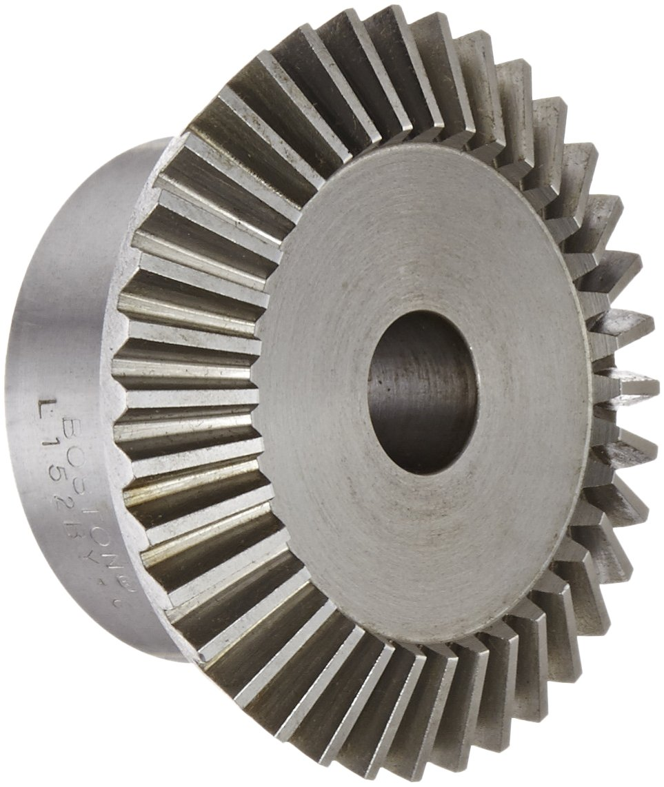 "Boston Gear L152BY-G Bevel Gear, 2:1 Ratio, 0.625"" Bore, 12 Pitch, 36 Teeth, 20 Degree Pressure Angle, Straight Bevel, Steel"