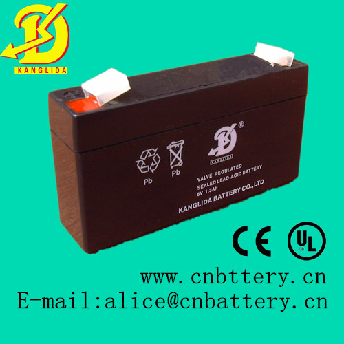 Maintenance free storage battery 6v1.3ah for attendance machine