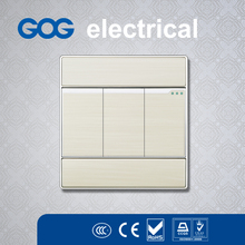 Promotion gog multi 4 way switch socket uk socket outlet unique design electrical Metal wall Switch and Socket