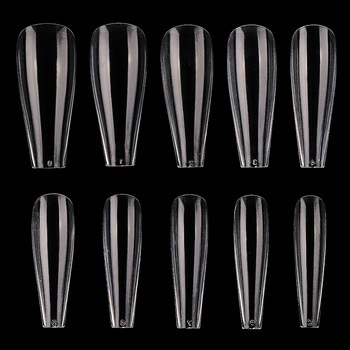 600pcs New Design T Shape Full Cover French Acrylic Stiletto Artificial False Finger Nail Tips