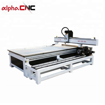 4 axis  with big rotary axis cnc router machine for Decoration Industry water cooling system for wood, mdf, stone, aluminum