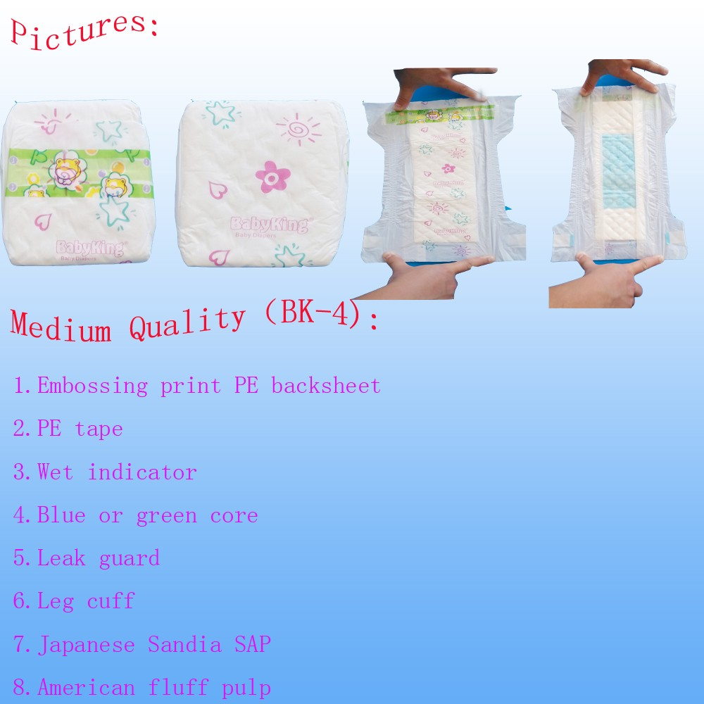 Charming Baby brand high quality disposable baby diaper for African Market