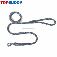 soft handle 100% nylon braided dog rope leash