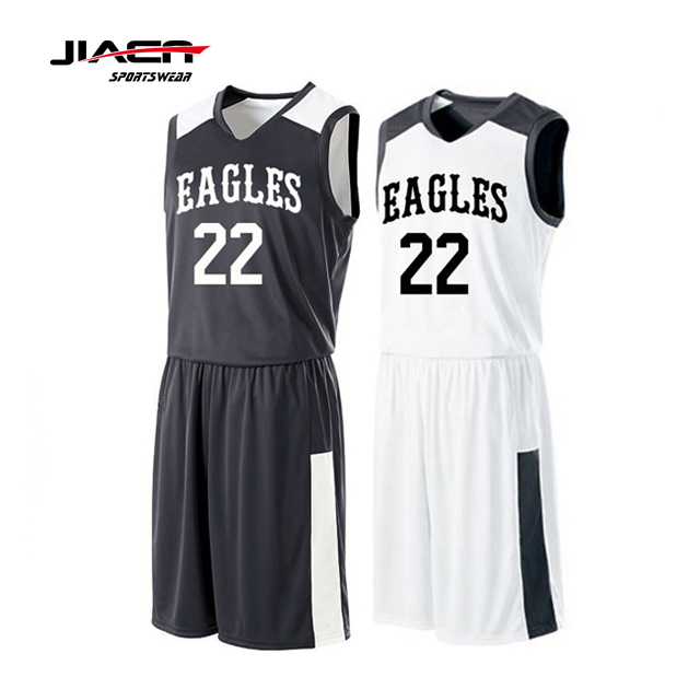 265b0bd27285 Black And White Basketball Uniform Reversible Basketball Jersey Uniform  Design - Buy Basketball Jersey And Shorts Designs