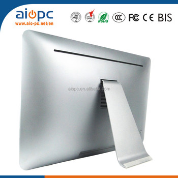 21.5 inch 21 inch PC Ultra Thin Silver J1900 CPU All In One Computer Desktop PC
