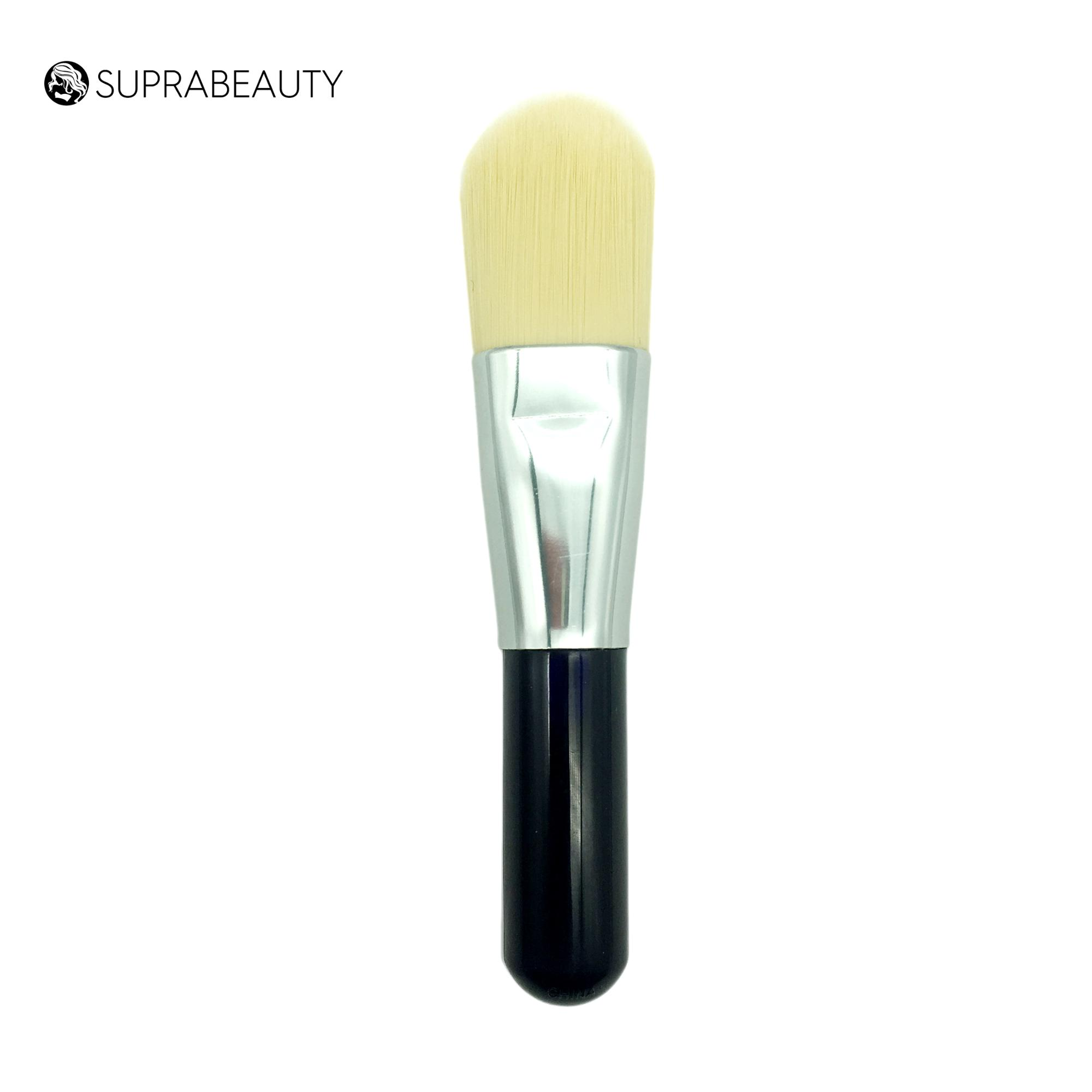 Bamboo handle Vegan Synthetic Hair Custom Logo Silicone Face Mask Brush