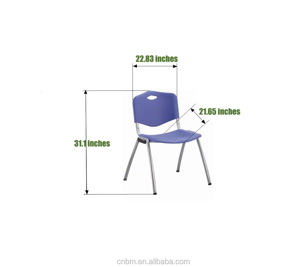 Conference Chair Plastic PP School Chair Hot sell