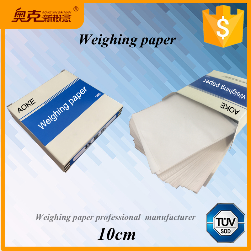Alibaba Gold Supplier 10cm * 10cm Balance weighing paper for lab use
