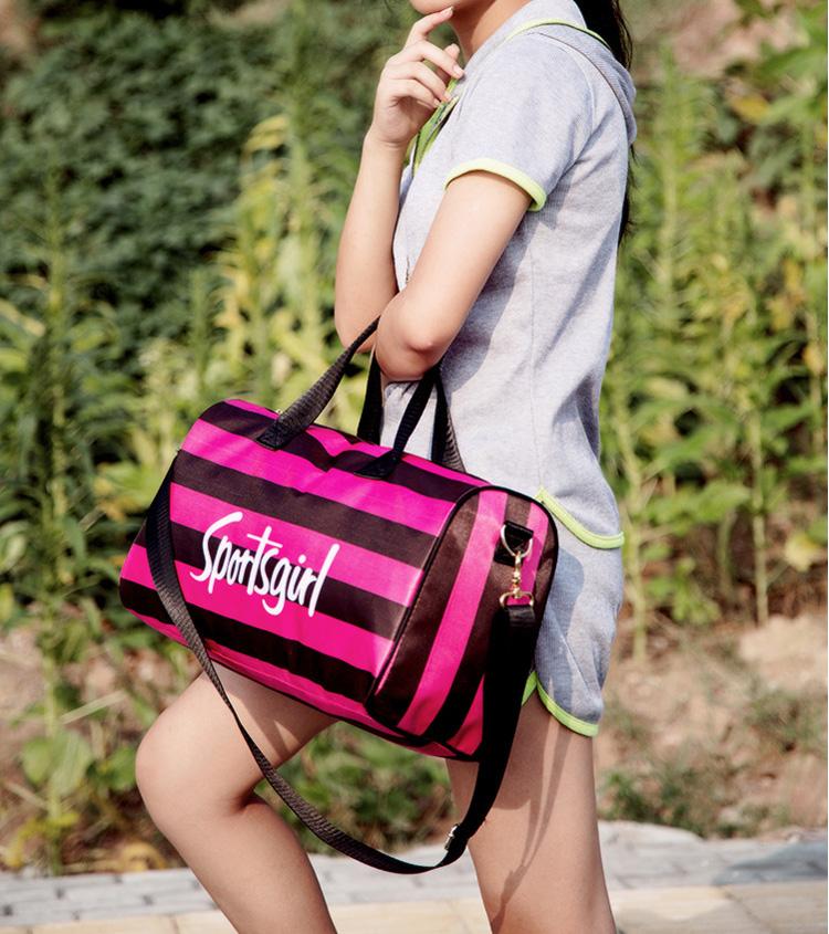 fa11b23c440e Водонепроницаемый для женщин спортивные сумки для зала дамы нейлон открытый  мешок фитнес Training плеча Йога сумка