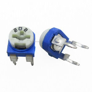 White Blue 2K ohm Variable Resistor 202 Potentiometer For Breadboard