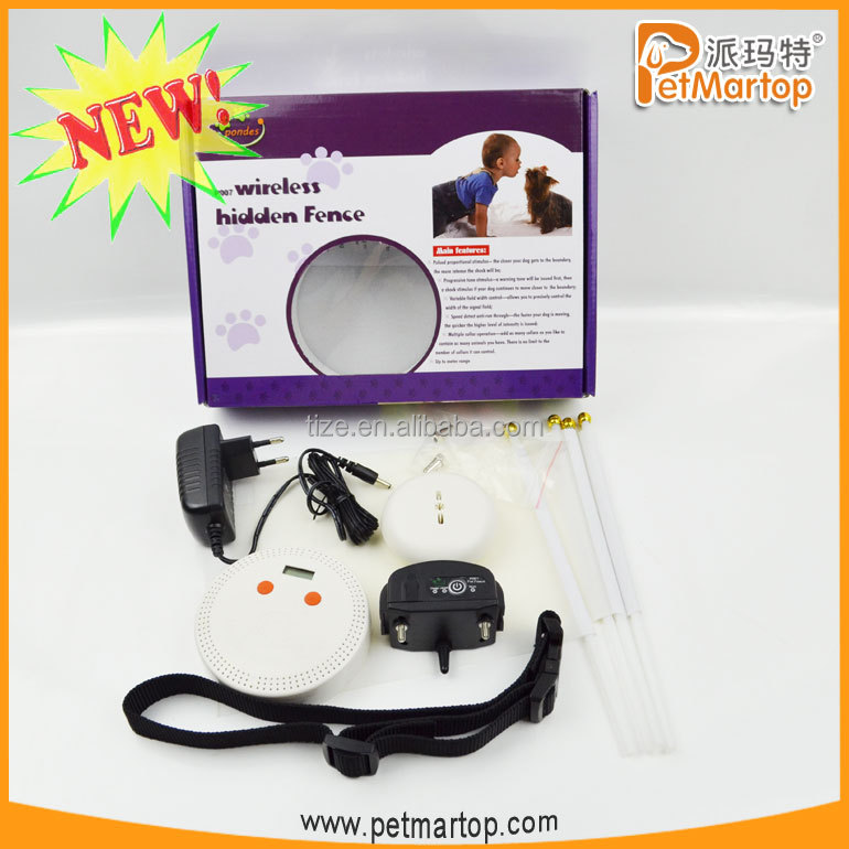 NEW TZ-PET007 wireless dog fence system with boundary flags