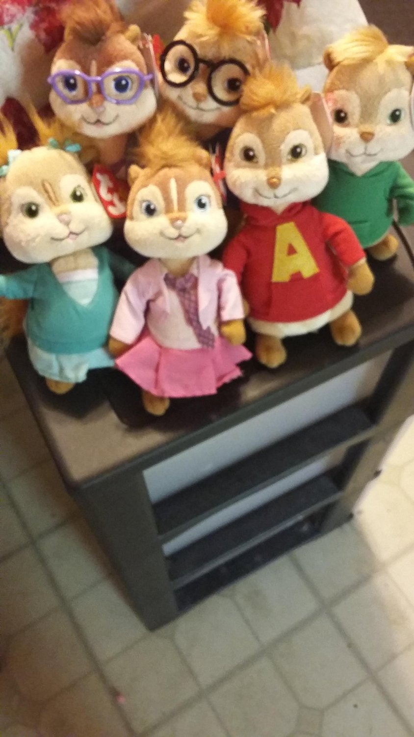 Alvin And The Chipmunks Alvin And Brittany buy ty beanie babies - brittany, eleanor & jeanette