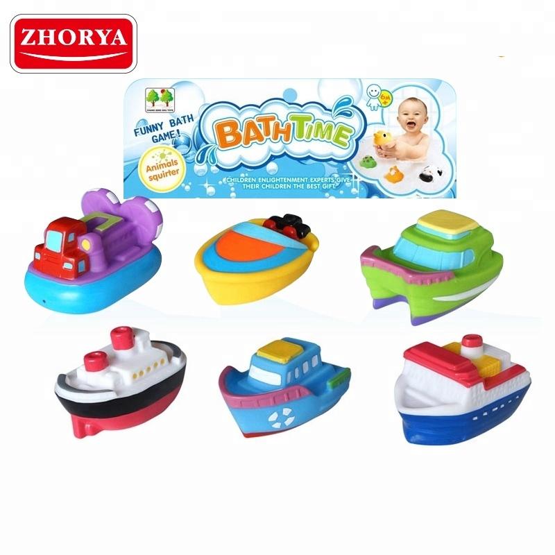 Zhorya 6 Pcs Cartoon Bathtime Toys Floating Bath Toy Boat For Sale ...