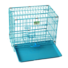 grill blue color foldable metal wire dog kennel