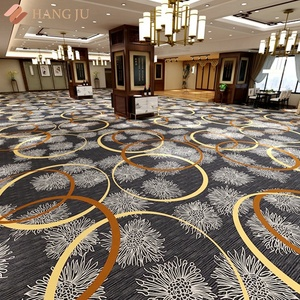 Tufted 10mm Thickness Nylon Printed Purple Hotel Carpet Banquet Hall Carpet New Design Shanghai Hangju Sunshine Series