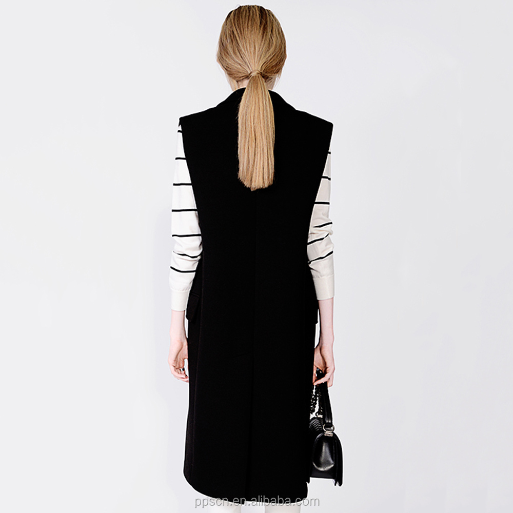women sleeveless long jacket made to order wholesale