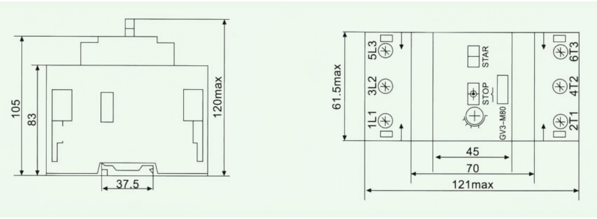 DZ518(GV3-M) Type Moulded Case Circuit Breaker for Mouse Cage Asynchronous Electric Motor