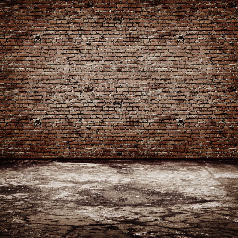 Aliexpress Com Buy Brick Wall Amp Wooden Floor Theme Vinyl