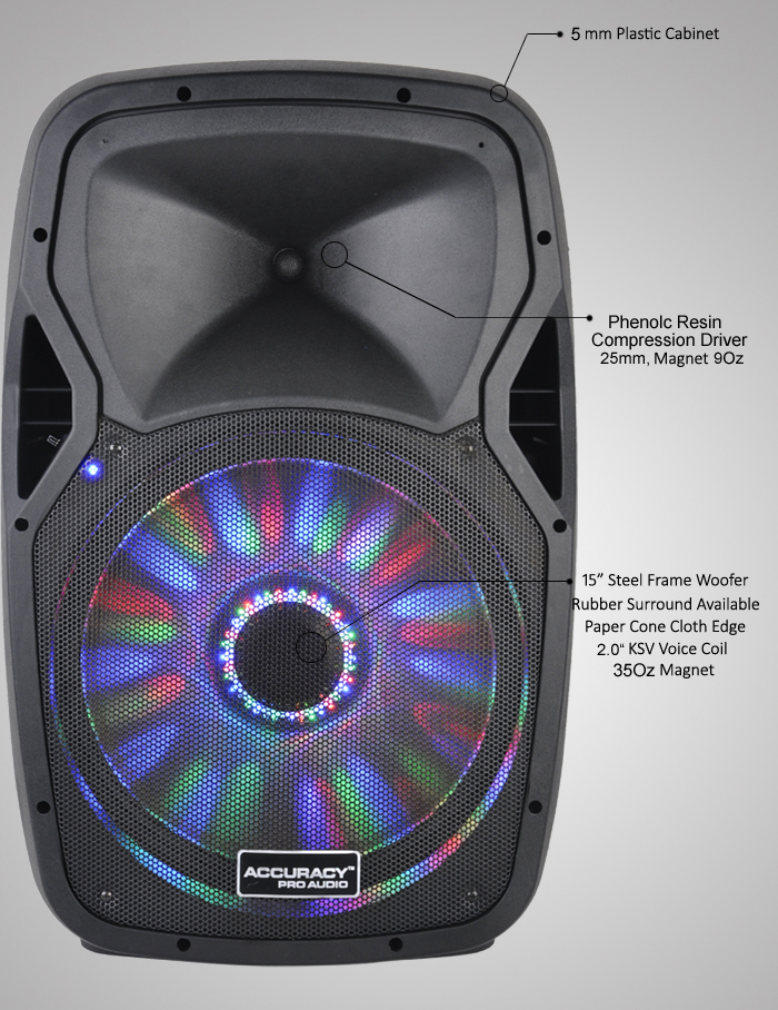 15 Inch Public Address System Active Pa Speaker Pmw15dhma