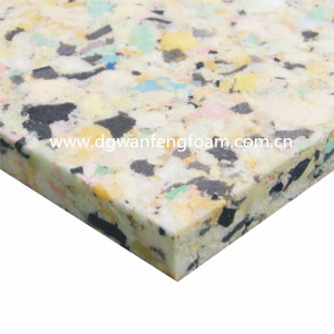 China Compressibility PU Rebonded foam Mattress
