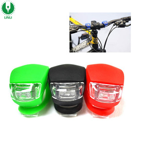 Wholesale Silicone Led Bike Front Light, Led Safety Mountain Bike Rear Tail Light