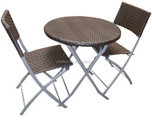 Outdoor garden furniture/ Patio rattan 3pcs (1pc table + 2pcs chairs)