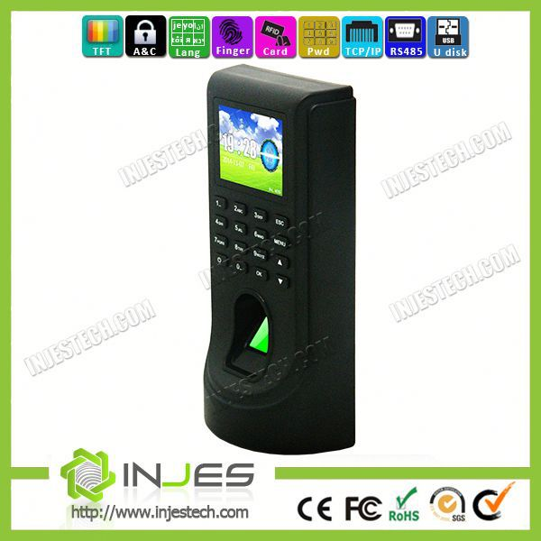 Ethernet Employee Fingerprint Attendance Access Control Digital Keypad
